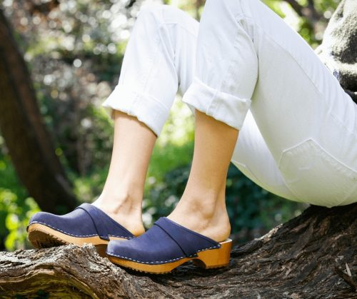 sweedish clogs australia shoes clogs blue leather nubuck wooden handmade love of clogs sale buy online