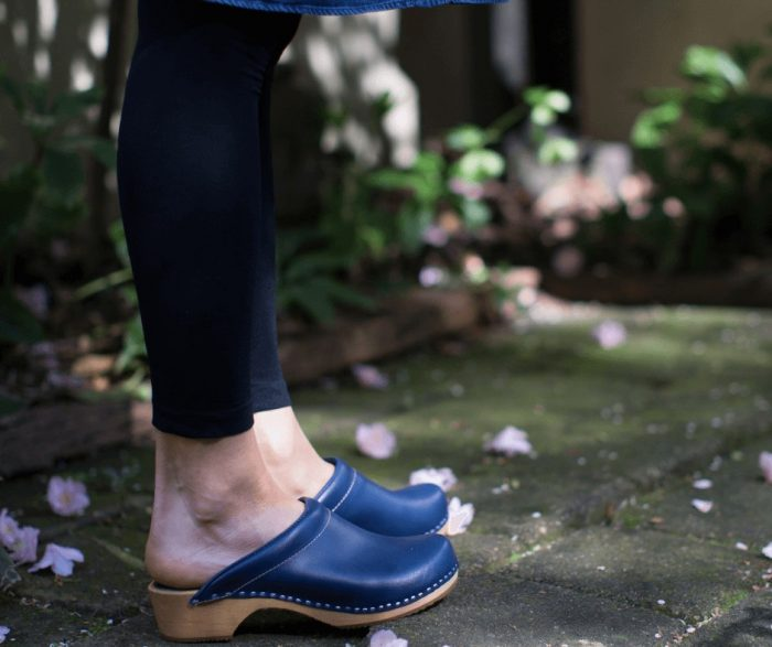 clogs australia shoes blue leather wooden handmade love of clogs sale buy online