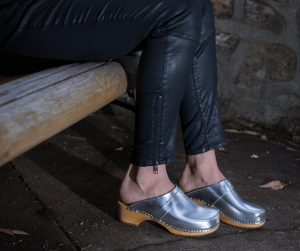 swedish clogs australia shoes mules silver leather wooden handmade love of clogs sale buy online