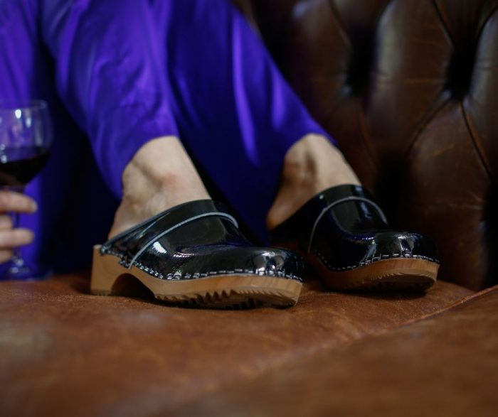 swdish clogs australia shoes clogs patent leather black wooden handmade love of clogs sale buy online