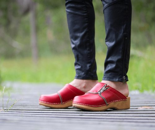 swedish clogs australia shoes clogs red leather wooden handmade love of clogs sale buy online
